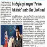 Iván Sagástegui opens «Artificial Paradises»